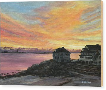 Sunrise Long Beach Rockport Ma Wood Print