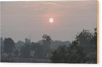Sunrise Wood Print by Makarand Kapare
