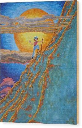 Wood Print featuring the painting Sunrise by Matt Konar