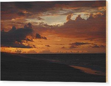 Sunrise  Wood Print by Mim White