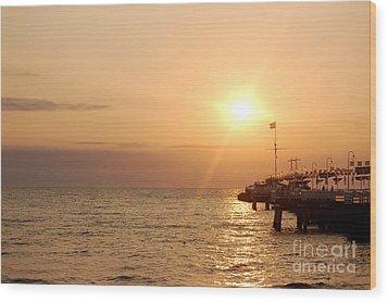 Sunrise Ocean Wood Print by Michal Bednarek