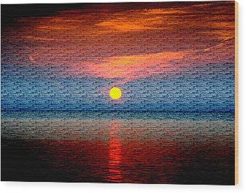 Sunrise On Brushed Metal Wood Print