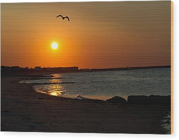 Wood Print featuring the photograph Sunrise On Cape Cod by John Hoey