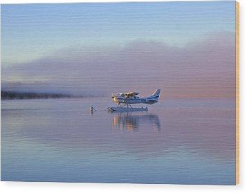 Sunrise On Lake Te Anu Wood Print