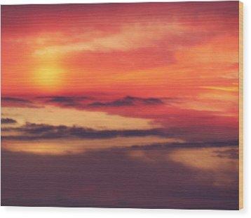 Sunrise On Mars Wood Print by Condor