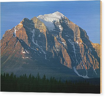 1m3518-sunrise On Mt. Temple Wood Print