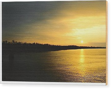Wood Print featuring the photograph Sunrise On Ole Man River by Michael Hoard