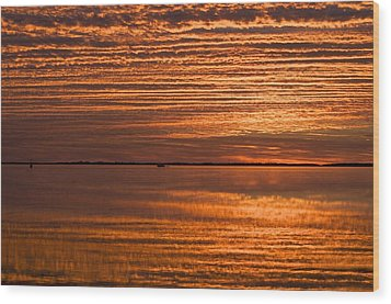 Sunrise On Ramrod Key Wood Print