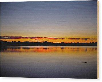 Sunrise On Riviere Des Mille-iles Wood Print by Juergen Weiss
