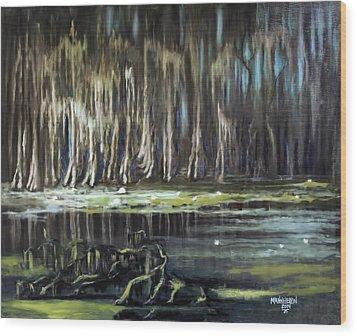 Sunrise On The Bayou Wood Print