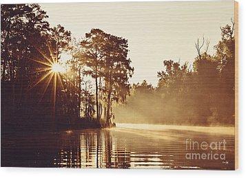 Sunrise On The Bayou Wood Print by Scott Pellegrin