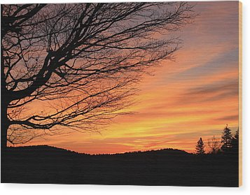 Sunrise On The Blue Ridge Parkway Wood Print by Mountains to the Sea Photo