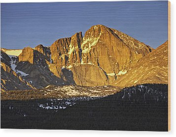 Sunrise On The Diamond Wood Print by Tom Wilbert
