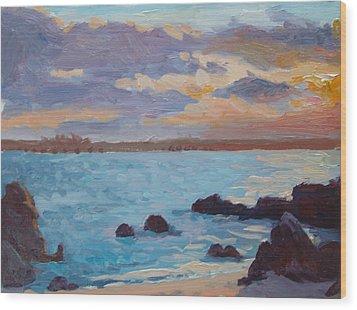 Sunrise On The Grotto Wood Print by Dianne Panarelli Miller