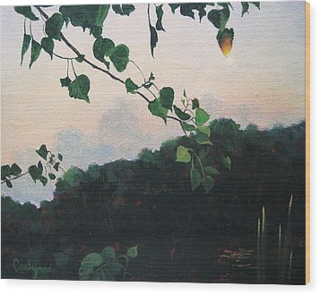 Sunrise On The Lake Wood Print by Carlynne Hershberger