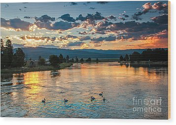 Sunrise On The North Payette River Wood Print by Robert Bales