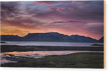 Sunrise On The Snaefellsnes Peninsula In Iceland Wood Print