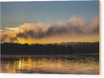 Sunrise On The St. Croix Wood Print