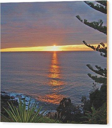 Sunrise Opening Wood Print by Ankya Klay