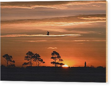 Sunrise Over Fenwick Island Wood Print by Bill Swartwout