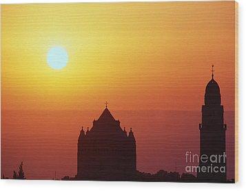 Sunrise Over Jerusalem Wood Print by Thomas R Fletcher