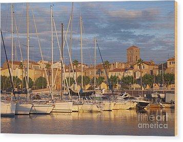 Sunrise Over La Ciotat France Wood Print by Brian Jannsen