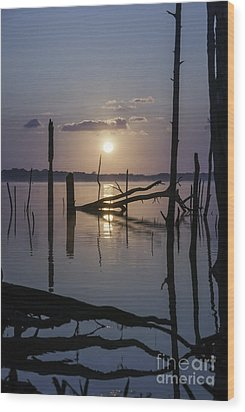 Sunrise Over Manasquan Reservoir Wood Print