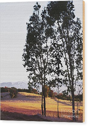 Sunrise Over Northern California Hills Wood Print by Artist and Photographer Laura Wrede