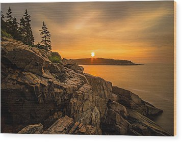Sunrise Over Otter Cove Wood Print