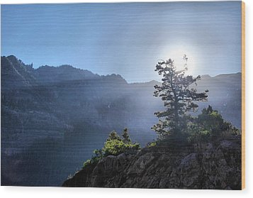 Sunrise Over Ouray Wood Print by Brian Davis