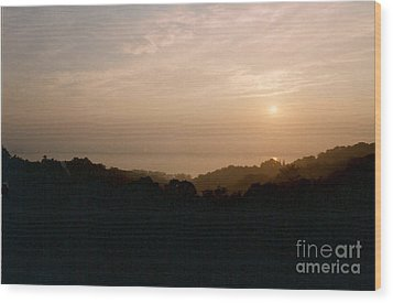 Sunrise Over The Illinois River Valley Wood Print