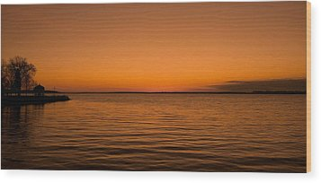 Wood Print featuring the photograph Sunrise Over The Lake Of Two Mountains - Qc by Juergen Weiss