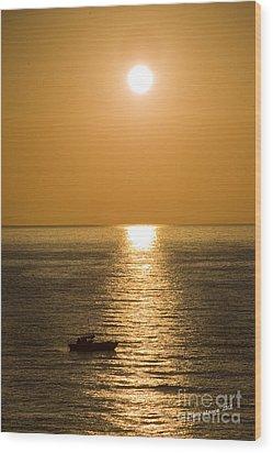 Sunrise Over The Mediterranean Wood Print by Jim  Calarese