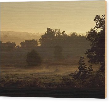 Sunrise Over The Mist Wood Print