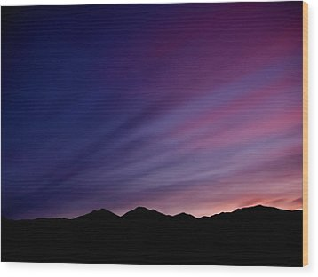 Sunrise Over The Mountains Wood Print by Rona Black