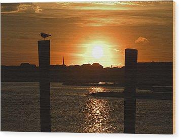 Sunrise Over Topsail Island Wood Print by Mike McGlothlen
