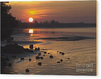 Wood Print featuring the photograph Sunrise Photograph by Meg Rousher