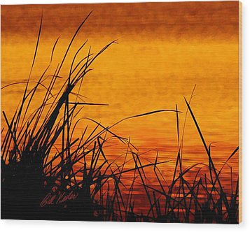 Wood Print featuring the photograph Sunrise Reflected On The Pond by Bill Kesler