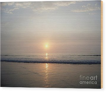 Sunrise Reflection Shines Upon The Atlantic Wood Print