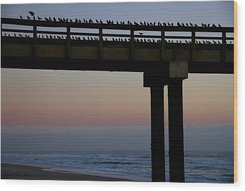 Wood Print featuring the photograph Sunrise Roll Call by Kathy Ponce