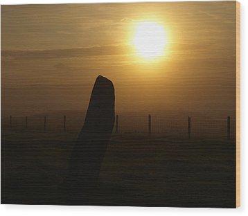 Sunrise Silhouette Scotland Wood Print by Michaela Perryman