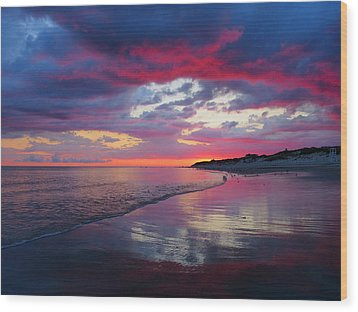 Wood Print featuring the photograph Sunrise Sizzle by Dianne Cowen