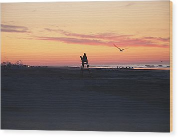 Sunrise Solitude Wood Print by Bill Cannon