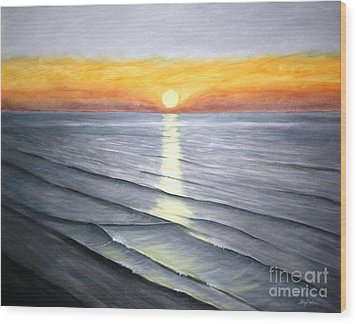 Wood Print featuring the painting Sunrise by Stacy C Bottoms