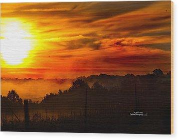 Sunrise Wood Print by Stephani JeauxDeVine