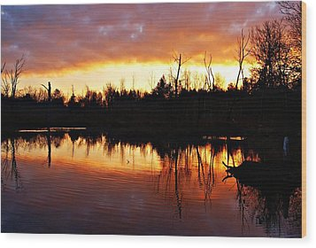 Sunrise Thanksgiving Morning Wood Print