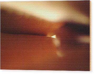 Sunrise Through Legs Wood Print
