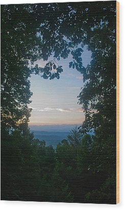 Sunrise Through The Trees Wood Print