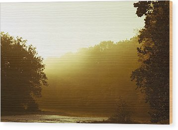 Wood Print featuring the photograph Sunrise Thru The Fog by Phil Abrams