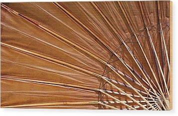 Sunrise Umbrella Wood Print by Glenn DiPaola